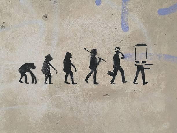 mapa conceptual de la evolucion del hombre sencillo