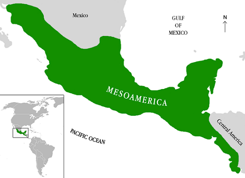mapa mental de mesoamerica con dibujos