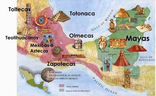 mapa mental de mesoamerica aridoamerica y oasisamerica
