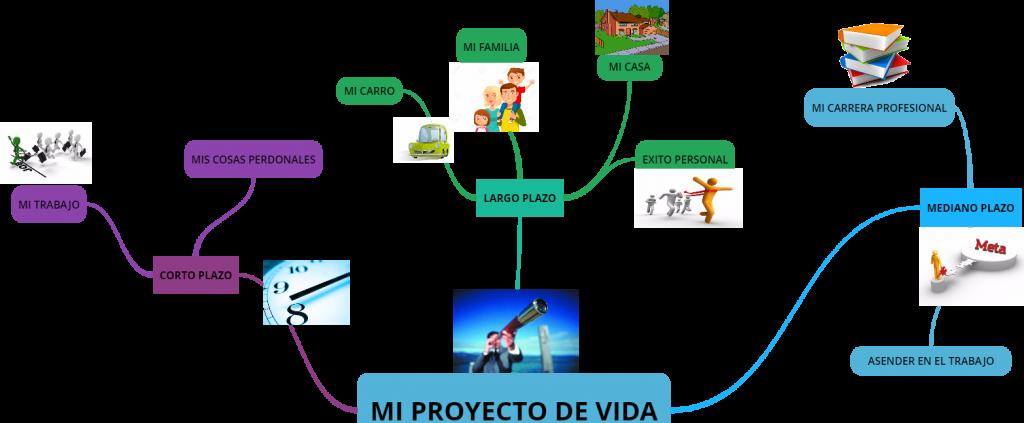 mi proyecto de vida mapa mental