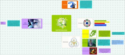 mapa conceptual del desarrollo economico sostenible
