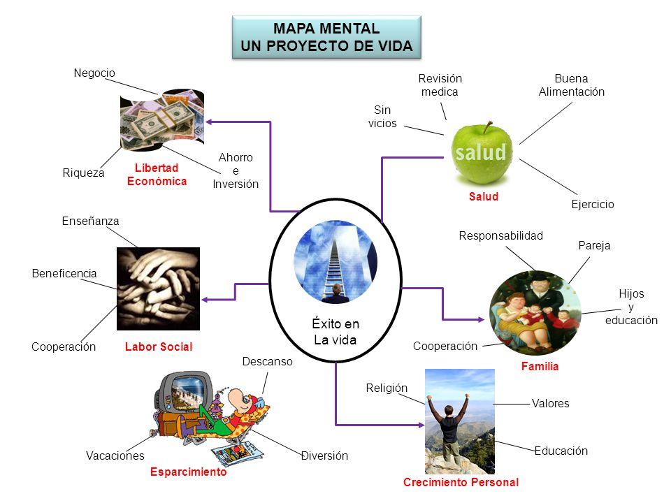mapa mental plan de vida y carrera